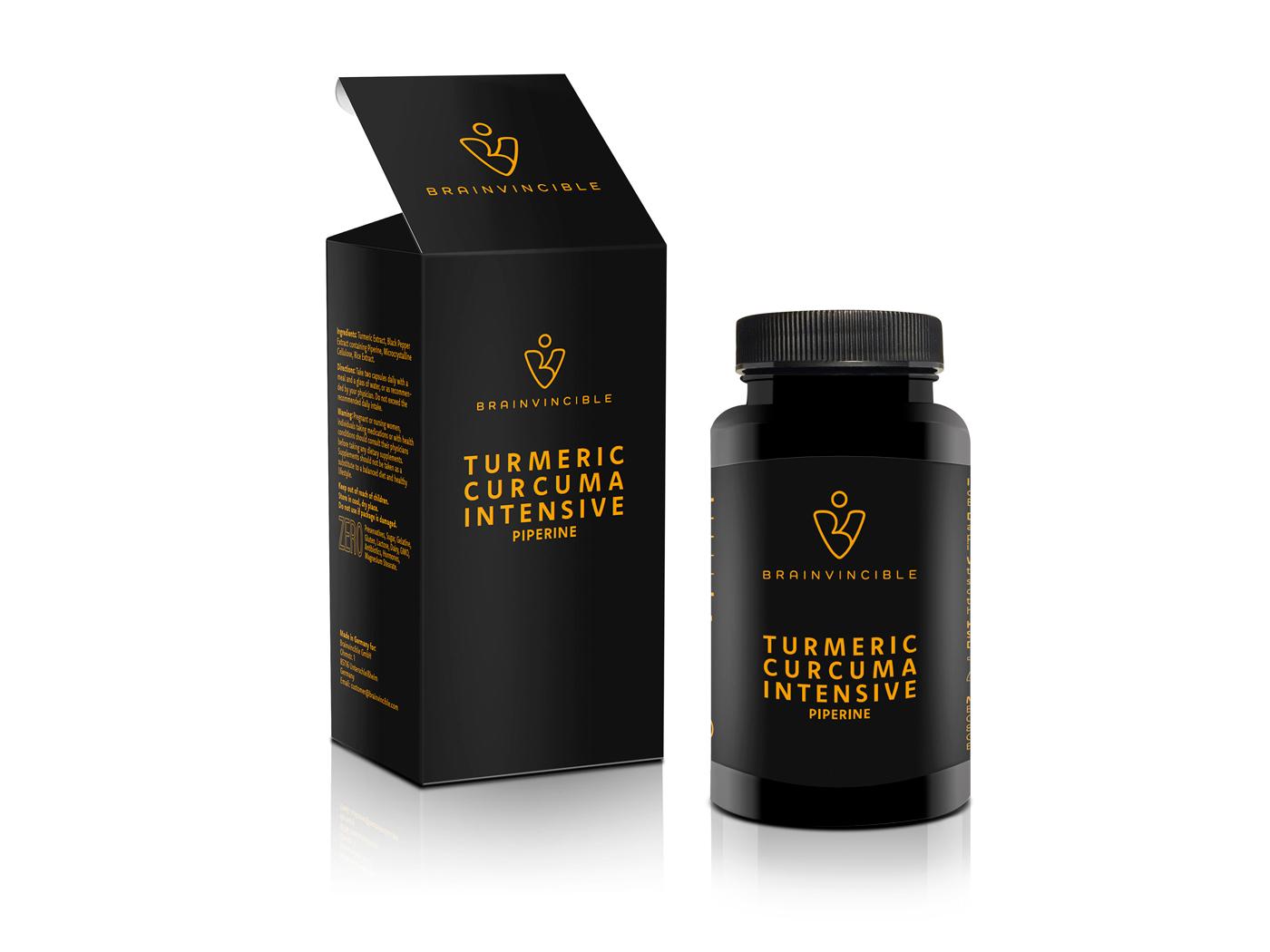 Ran Keren Logoentwicklung Brainvincible Verpackung Curcuma