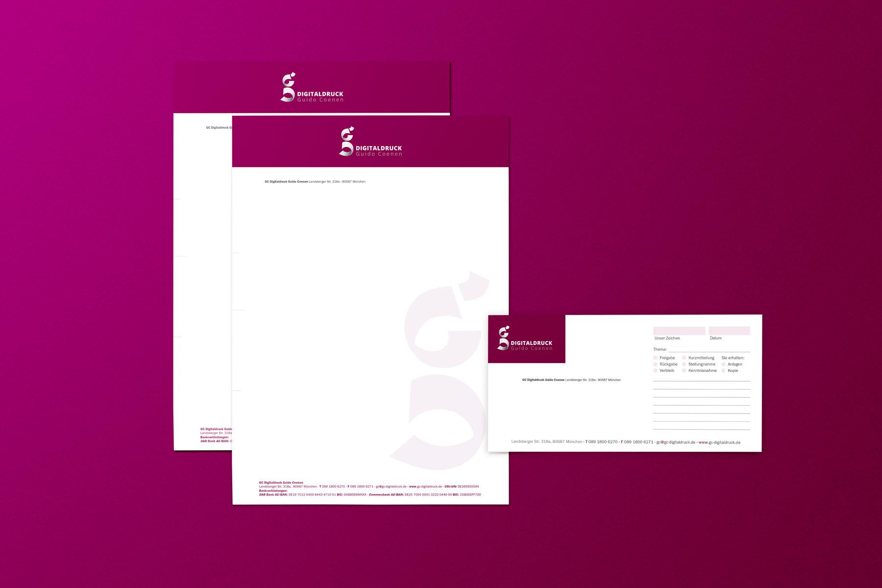 Ran Keren - Briefbogen und Bestellschein - GC Digitaldruck