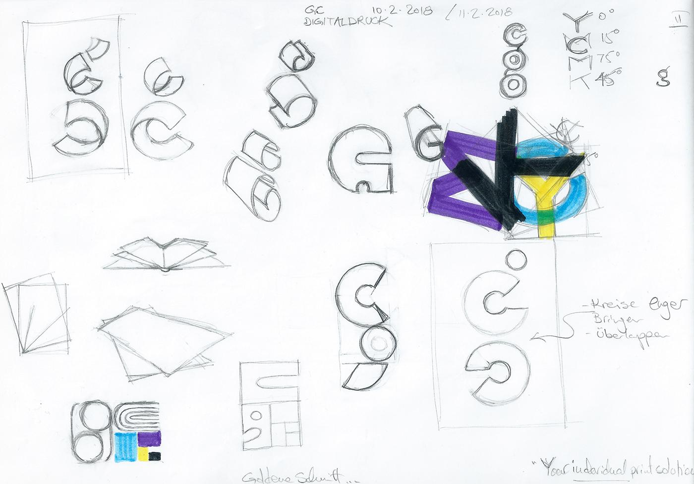 Ran Keren - Logoentwicklung - GC Digitaldruck