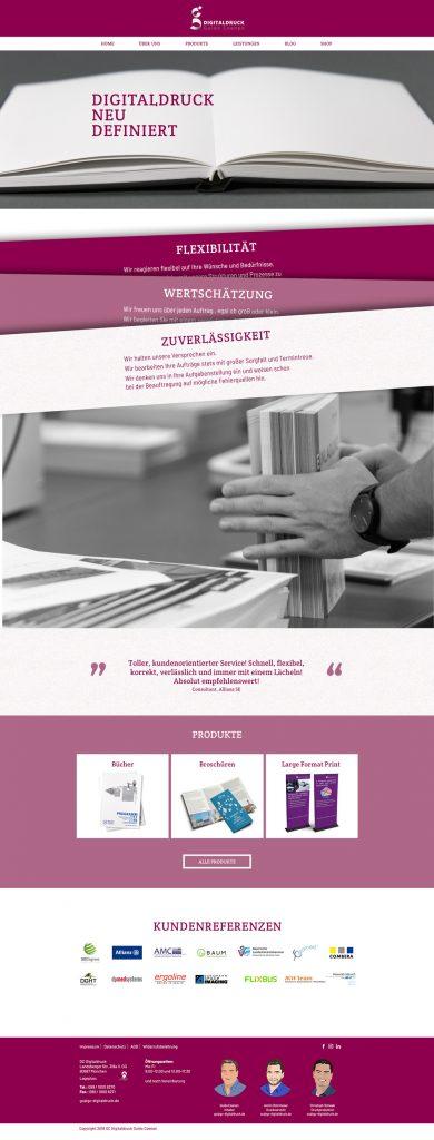 Ran Keren - Webdesign - GC Digitaldruck