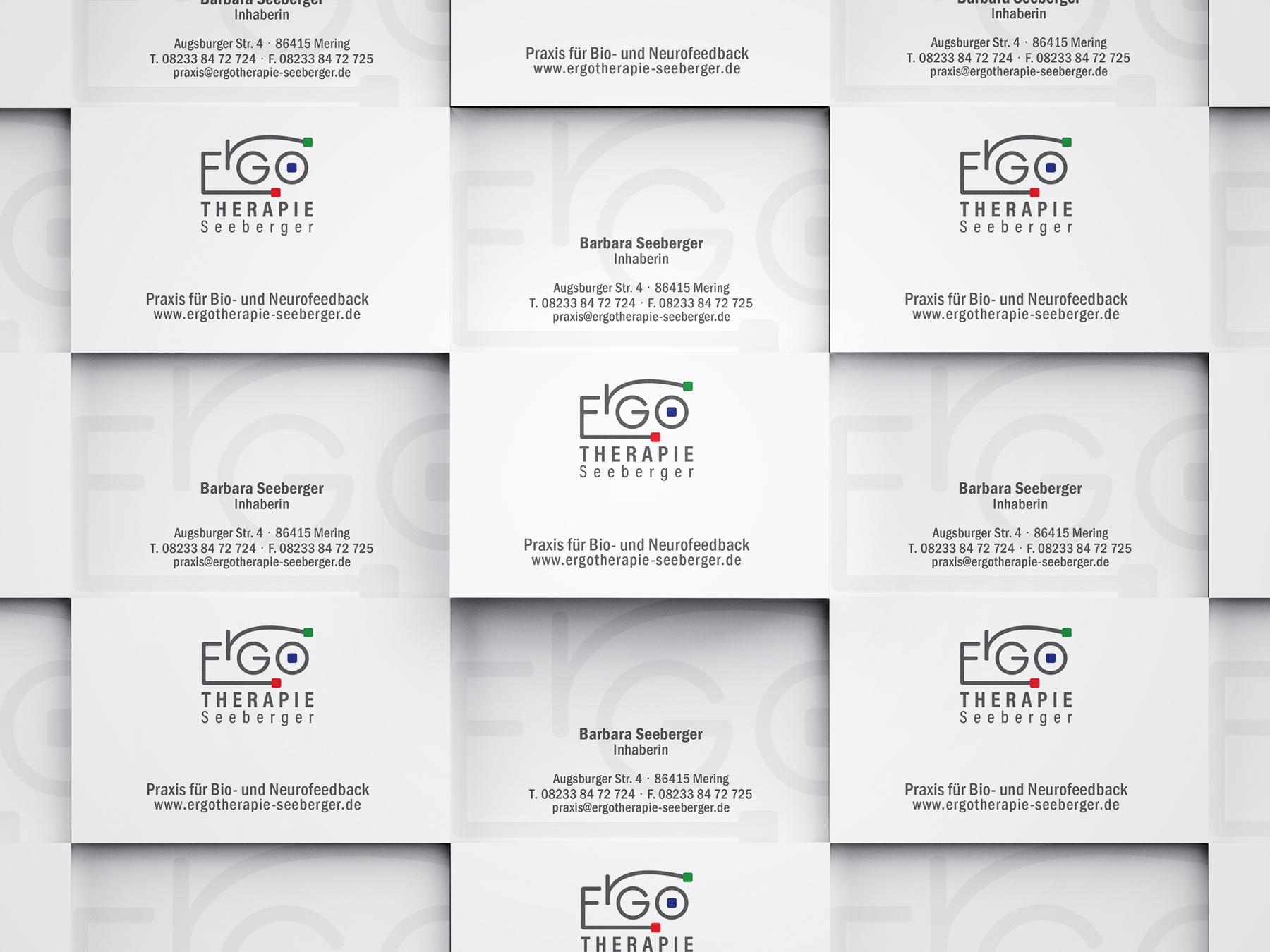 Ran Keren, Logodesign, Corporate Identity, Ergotherapie Seeberger, visitenkarte