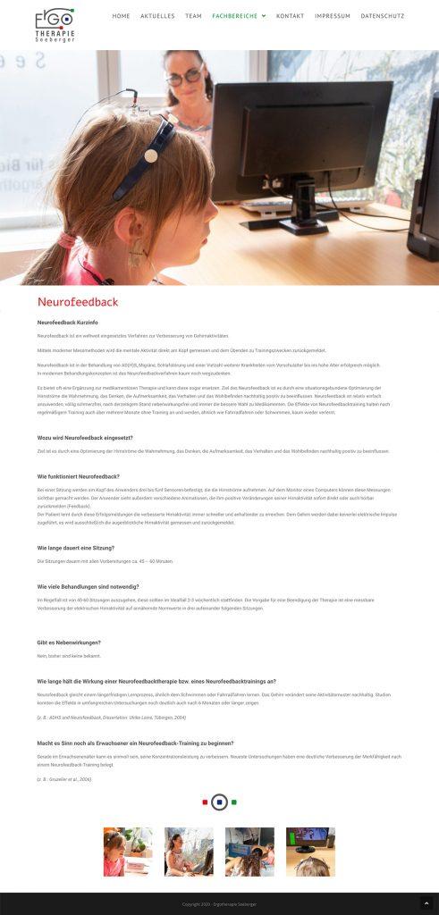 Ran Keren, Webdesign, Ergotherapie Seeberger