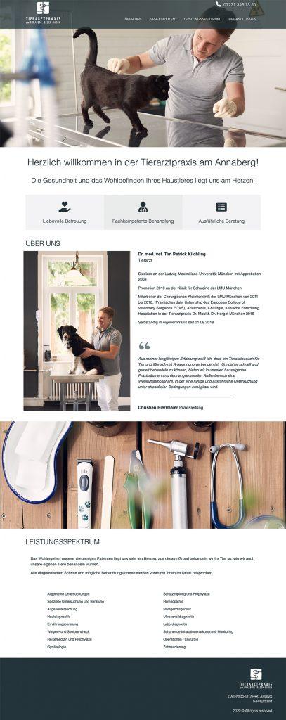 Ran Keren Webdesign, Tierarztpraxis am Annaberf, Baden-Baden