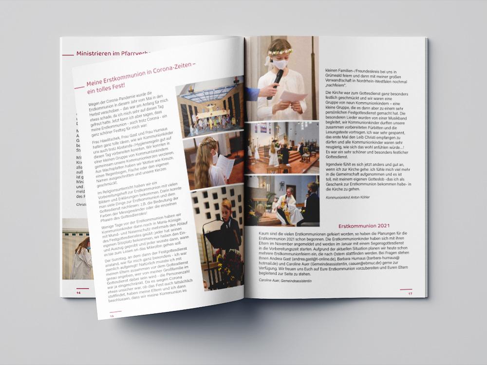 Ran Keren, Broschure, Pfarrbrief Pfarrverband Grünwald 2020
