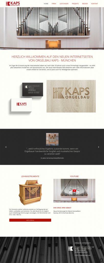 Ran Keren, Webdesign, Orgelbau Kaps 2021